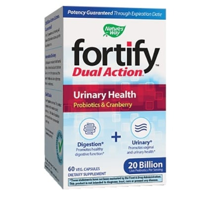 Fortify dual action urinary health 60 capsules Nature's Way / Фортифай Дуал Акшън Уринарно здраве 60 капсули Nature's Way