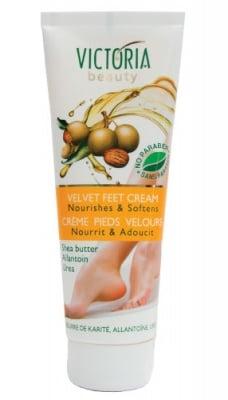 Victoria Beauty velvet feet cream 100 ml. / Виктория Бюти Кадифени стъпала крем за крака 100 мл.