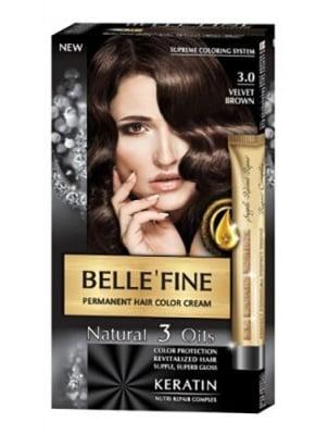 Belle'Fine hair color cream 3.0 velvet brown / Бел Файн боя за коса 3.0 кадифено кафяв