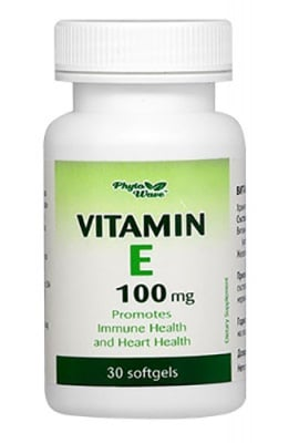 Vitamin E 100 mg 30 softgel capsules Phyto Wave / Витамин Е 100 мг. 30 софтгел капсули Phyto Wave