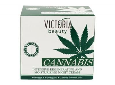 Victoria Beauty Cannabis intensive night cream 50 ml. / Виктория Бюти Канабис Интензивно регенериращ и хидратиращ нощен крем 50 мл.