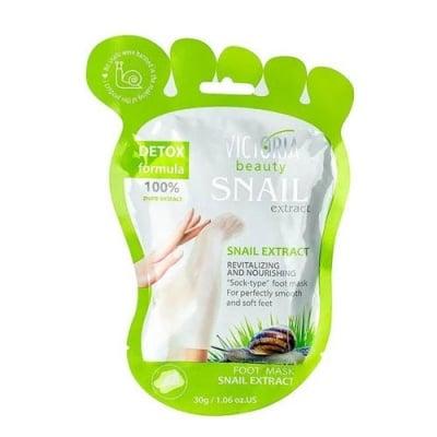 Victoria beauty Revitalizing and Nourishing Foot Mask with snail extraxt sock type 2 pcs. / Виктория бюти Подхранваща маска за крака с екстракт от охлюв тип чорап 2 броя
