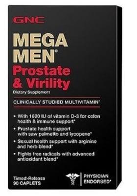Mega men prostate 90 caplets GNC / Мега мен простата 90 каплети GNC