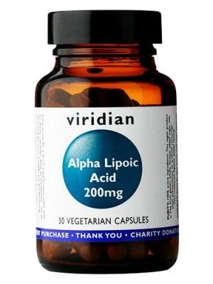 Alpha Lipoic acid 200 mg. 30 capsules Viridian / Алфа Липоева киселина 200 мг. 30 капсули Виридиан