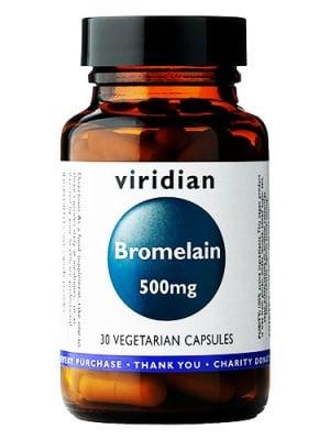 Bromelain 500 mg. 30 capsules Viridian / Бромелаин 500 мг. 30 капсули Виридиан