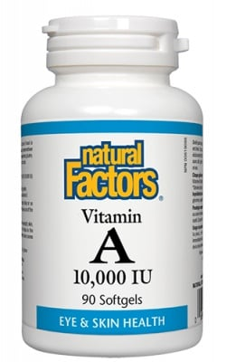 Vitamin A 10000 IU 90 capsules Natural Factors / Витамин А 10000 IU 90 капсули Натурал Факторс