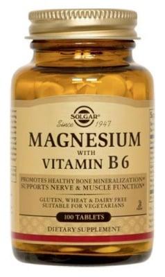 Magnesium + Vitamin B6 100 tablets Solgar / Магнезий + Витамин Б6 100 таблетки Солгар