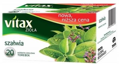 Vitax tea Salvia 20 filter packets / Витакс чай Салвия 20 филтърни пакетчета