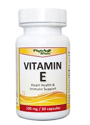 Vitamin E 100 mg 30 capsules Phyto Wave / Витамин Е 100 мг. 30 капсули Phyto Wave