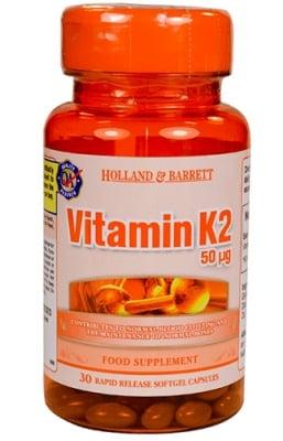 Vitamin K2 50 mcg 30 capsules Holland Barrett / Витамин K2 50 мкг 30 капсули Holland Barrett
