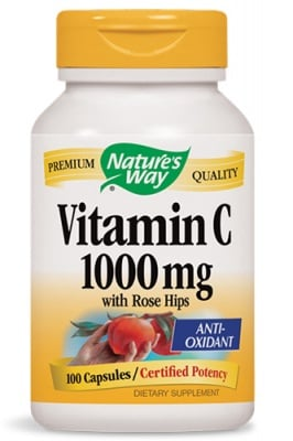 Vitamin C with rose hips 1000 mg 100 capsules Nature's Way / Витамин Ц + шипка 1000 мг. 100 капсули Nature's Way