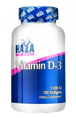 Haya Labs Vitamin D3 1000 IU 100 capsules / Хая Лабс Витамин Д3 1000 IU 100 капсули