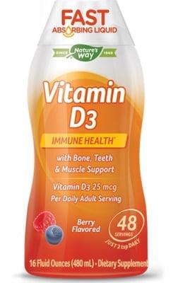 Vitamin D3 berry flavored 480 ml Nature's Way / Течен Витамин D3 (Горски плодове) 480 мл. Nature's Way