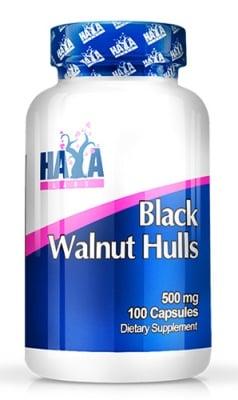 Haya Labs Black walnut hulls 500 mg. 100 capsules / Хая Лабс Черен орех 500 мг. 100 капсули