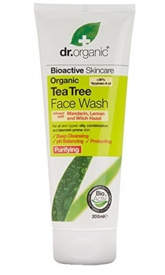 Dr. Organic Tea tree Face wash antiseptic 200 ml. / Др. Органик Чаено дърво Антисептичен гел за лице за мазна и комбинирана кожа 200 мл.