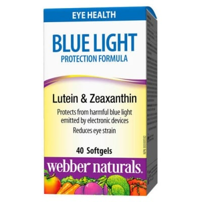 Blue Light Protection Formula Lutein and Zeaxanthin 40 softgels Webber Naturals / Блу лайт протeкшън формула Лутеин и Зеаксантин 40 меки капсули Уебър Натуралс