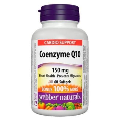 Coenzyme Q10 150 mg 60 softgels Webber Naturals / Коензим Q10 150 мг. 60 меки капсули Уебър Натуралс
