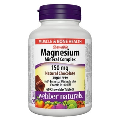 Magnesium Mineral Complex 60 chewable tablets Webber Naturals / Магнезий Минерален комплекс 60 дъвчащи таблетки Уебър Натуралс