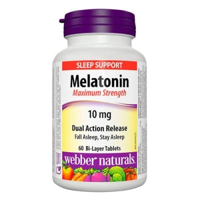 Melatonin Maximum Strength 10 mg 60 tablets / Мелатонин 10 мг. 60 таблетки Уебър Натуралс