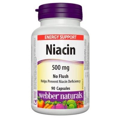 Niacin 500 mg 90 capsules Webber Naturals / Ниацин Инозитол 500 мг. 90 капсули Уебър Натуралс