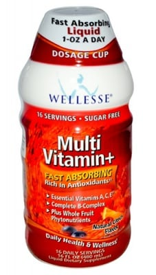 Multivitamin liquid 480 ml WELLESSE / Течен Мултивитамин разтвор Цитрус 480 мл. WELLESSE