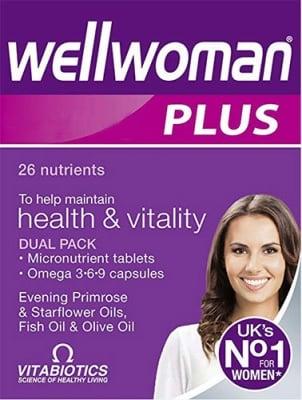 Wellwoman Plus 28 tablets + 28 capsules Vtabiotics / Уелуоман Плюс 28 таблетки + 28 капсули Витабиотикс