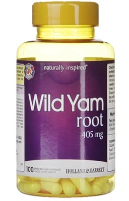 Wild yam root 405 mg 100 capsules Holland & Barrett / Див Ям 405 мг 100 капсули Holland & Barrett