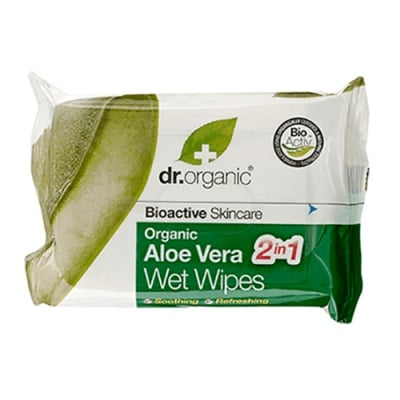 Dr. Organic Aloe Vera Wet wipes 20 pcs. / Др. Органик Алое Вера Мокри Кърпи 20 броя