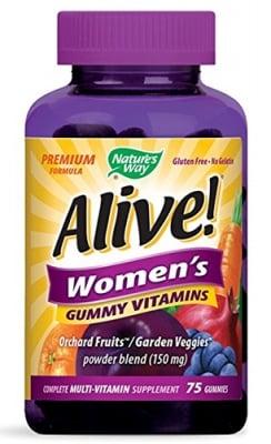 Alive Women's vitamins 75 gummies Nature's Way / Алайв Витамини за жени 75 желирани таблетки Nature's Way