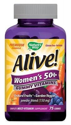 Alive Women's 50+ vitamins 75 gummies Nature's Way / Алайв Витамини за жени 50+ Nature's Way 75 желирани таблетки