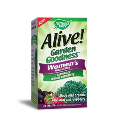 Alive Garden goodness women's multivitamin 60 tablets Nature's Way / Алайв гардън гуднес мултивитамини за жени 60 таблетки Nature's Way