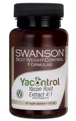 Swanson yacon root extract 90 veggie capsules / Суонсън екстракт от корен на Якон 90 капсули