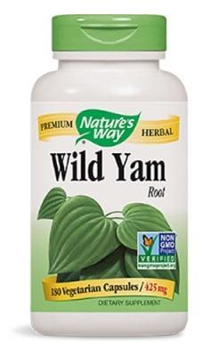 Wild Yam 425 mg 180 capsules Natures Way / Див Ям сладък картоф 425 мг. 180 капсули Natures Way