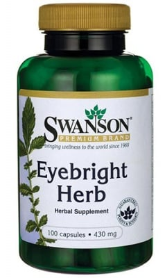 Swanson eyebright herb 430 mg 100 capsules / Суонсън Очанка 430 мг. 100 капсули