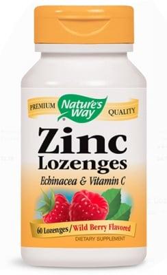 Zinc & echinacea & vitamin C 60 lozenges Nature's Way / Цинк + Витaмин Ц + Ехинацея 60 таблетки за смучене Nature's Way