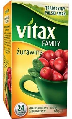 Vitax tea Cranberry 24 filter packets / Чай Витакс Червена боровинка 24 броя филтърни пакетчета